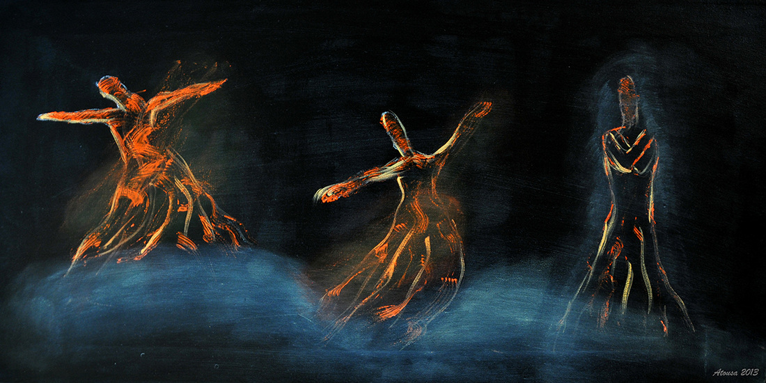 Artwork Dance Of Life inspired by Rumi Poem